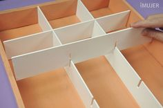 Style to make cubbies for shoe storage ---  organizadores de cajones de ropa - Buscar con Google