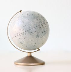 etsy find of the day - vintage moon globe by bellalulu. Cho Chang, Orange Pastel, Moon Globe, Blue Sargent, All The Bright Places, Gray Aesthetic, Athena Aesthetic, Aesthetic Objects, Deco Originale