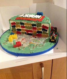 Inside lego cake