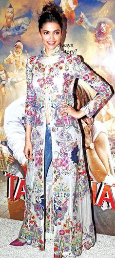 Deepika Padukone celebrating the success of #Tamasha's music.: