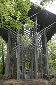 Thorncrown Chapel in Eureka Springs ranks #4 in list of the 10 most beautiful churches in America by ArchitecturalDigest.com. #VisitArkansas