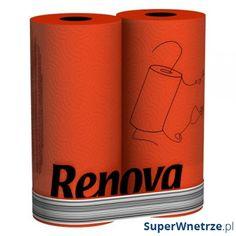 RENOVA 2szt Czerwony Ręcznik papierowy 5601028011099