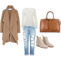 Bez naslova #3 by irnyhaly on Polyvore featuring Harris Wharf London, Genetic Denim and Yves Saint Laurent