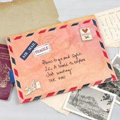 Paper plane brownm air mail themed travel wallet by Disaster Designs available from www.lisaangel.co.uk. Free delivery on all disaster designs.