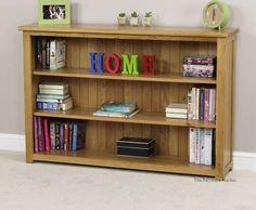wide oak bookcases