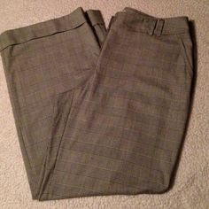 """MK Dress Pants Plus Size These pants are very classy yet comfortable. They are black and white plaid with a cuff at the bottom hem. Inseam is 31"""" and measures 19 1/2 from side to side at top of waist band. They have a flare which look great with heels. MICHAEL Michael Kors Pants Trousers"""
