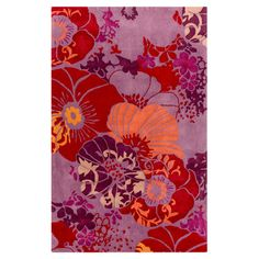 Anisha polyester rug. Anchor your living room seating group or define space in the den with this artfully hand-tufted rug, showcasing an overlapping floral motif for eye-catching ...