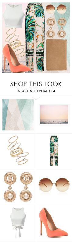 """""""Tropical"""" by patguerra on Polyvore featuring Sandberg Furniture, BP., Emilio Pucci, Chanel, Linda Farrow, WithChic, Liliana and Balmain"""