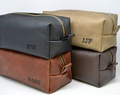 Arizona Leather Toiletry Bag Travel Shaving by FelixStreetStudio