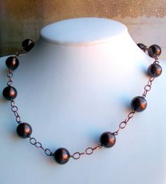 Copper Glory  Glass Bronze Pearl and Copper by JustBeCreative, $32.00