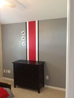 Ohio State Themed Bedroom. Part 49
