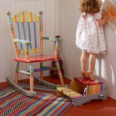 Our signature designs, hand-painted patterns, and distinctive silhouettes make this Wee Rocking Chair unmistakably…