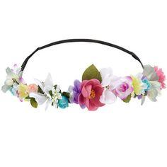 Accessorize Coachella Flower Crown Bando