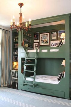 Green bedrooms are one of the newest trends for kids' rooms. Check out this new trend with Circu at: circu.net #ADDesignShow2019 #adshow #adshow19 #addesignshow #architecturaldigest