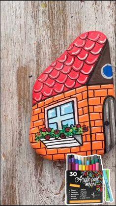 Stone Art Painting, Pebble Painting, Pebble Art, Garden Painting, Rock Painting Patterns, Rock Painting Ideas Easy, Rock Painting Designs, Paint Designs, Painted Rocks Craft