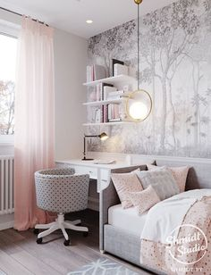 Pink girly bedroom decor ideas Achieve a lovely and luxurious pink theme bedroom for kids with Circu Magical furniture: CIRCU. Girly Bedroom Decor, Girl Bedroom Designs, Trendy Bedroom, Bedroom Ideas, Ikea Girls Bedroom, Modern Bedroom, Design Room, Interior Design, Design Design