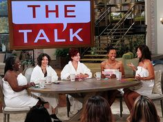 """THE TALK: """"take it all off,"""" going completely natural for the live season premiere - Sheryl Underwood, Sara Gilbert, Sharon Osbourne, Aisha Tyler and Julie Chen Sharon Osbourne, Sheryl Underwood, Cbs Tv Shows, Julie Chen, Sara Gilbert, Television Online, Aisha Tyler, Reality Tv Shows, Down South"""