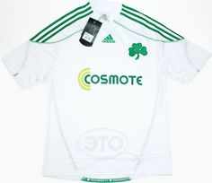 Panathinaikos 2009 (A). I bought one of these direct from a Greek website. The shirt turned up about two months later, they didn't invoice me for at least six months after that. Classic Football Shirts, Vintage Football Shirts, Retro Vintage, Greek, At Least, Soccer, Website, Mens Tops, Stuff To Buy