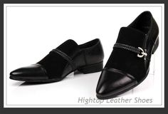 Free shipping Hightop new 2014 fashion men oxford shoes,buckle strap style luxury Italy leather shoes,genuine leather shoes38-45 $361.00