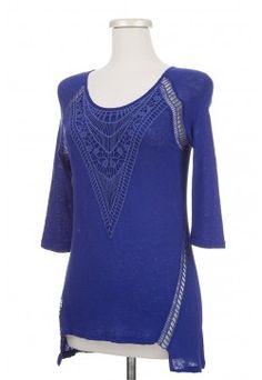 Type 1 Crocheted Cobalt Top