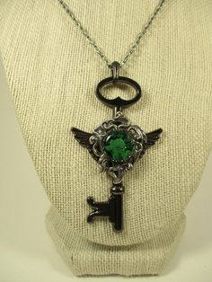 Winged Skeleton Key Pendant by spiritracer. Explore more products on http://spiritracer.etsy.com