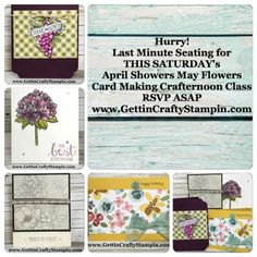 #CardMakingClass #PaperCrafting #RubberStamping #DIYCard #HandMade #HandStamped #HandCrafted #GettinCraftyStampin #StampinUp
