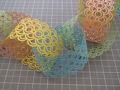 Punched Paper Chain Garland