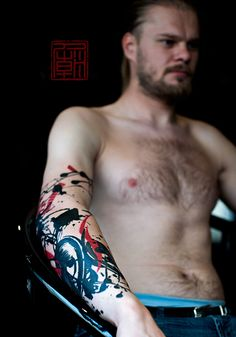 Speaker for Rafal - artwork and tattoo by Jamie  www.tattootemple.hk