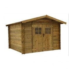 Abri de jardin en bois Florimond Marron modèle 9 m ² - Cémonjardin - CMJ888167