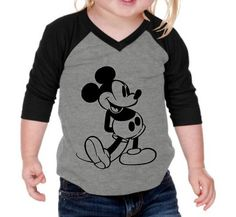 Vintage Mickey Mouse Raglan Shirt Tshirt by MamasModernThreads