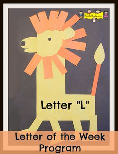 L is for Lion! An amazing craft idea by Jana of the preschooler site How To Run A Home Daycare. Click on the link above to discover how to make the craft, as well as join Jana and her charges on their journey of discovery about the letter L with a variety of stimulating games, books, and other fun activities. Trust me, you'll be inspired.