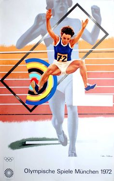 1972 Munich Olympic Games Art Series Poster by Peter Phillips 1972 Olympics, Summer Olympics, Summer Games, Winter Games, Olympic Medals, Olympic Games, Olympia, Otl Aicher, Peter Phillips