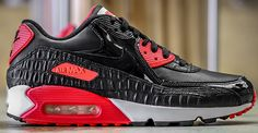Nike Air Max 90 Infrared Croc Another Look. Get closer to the Infrared Croc Nike Air Max 90.