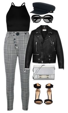 """Duda's outfit #3"" by dudas2pinheiro ❤ liked on Polyvore featuring Alexander Wang, Boohoo, Acne Studios, Brixton, Gianvito Rossi, Yves Saint Laurent and Proenza Schouler"