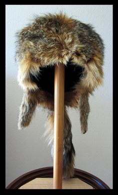 It looks so warm!!!!!!  SALE Cross Fox Fur Hat Buckskinner Mountain Man Rendezvous Reenactment or Ski Skiing VINTAGE PELT From 1908 on Etsy, $125.00