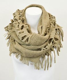 Another great find on #zulily! Mocha Fringe Infinity Scarf by Leto Collection #zulilyfinds