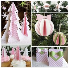 Free Printable Pink Peppermint Christmas Ornaments