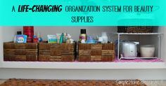 A life-changing organization system for beauty supplies! Perfect way to start my spring cleaning.