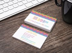 White LuLaRoe Horizontal Business Card - LLR Chevron colors-Home Office Compliant Classic Chevron by MommyDesignStudio on Etsy https://www.etsy.com/listing/486330594/white-lularoe-horizontal-business-card