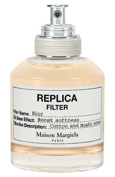 Free shipping and returns on Maison Martin Margiela 'Replica Filter - Blur' Fragrance Primer at Nordstrom.com. Replica Filter Blur softens and envelops olfactive memories with a delicate, ethereal embrace. The softness of cotton and the gentle caress of white musk and grey amber accords blend effortlessly with the Replica fragrance collection, creating a calm and intimate perspective. This innovative oil-based fragrance primer nourishes the skin and creates a mood as unique as you.The…