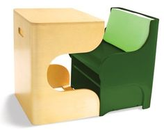 """P'Kolino Klick Children's Desk, Green by P'Kolino. $197.95. Modular, compact, space saving. Storage under the seat. Made from birch plywood. Modern design in stylish. Perfect for children 3 and up. From the Manufacturer                This playfully smart children desk and chair set is a """"perfect fit"""". With ample working and storage space, the P'Kolino Klick is perfect for children. With its ability to cleverly minimize, and thus maximize the home aesthetic, it is perfect for mom..."""