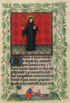 St. Benedict | Hours of Catherine of Cleves | Illuminated Manuscript | ca. 1440 | The Morgan Library & Museum