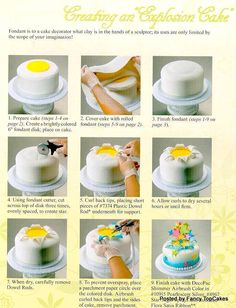 Tutorial on how to make an exploding cake