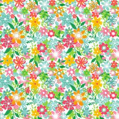 Makower UK - Fruity Friends - Floral in White