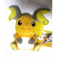 Raichu Pokemon Canvas Plushie Japan