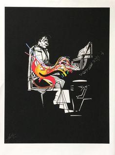 Catawiki online auction house: Raymond Moretti - Le pianiste, for the Jazz portfolio