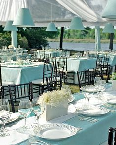 white table settings
