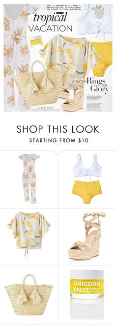 """""""Welcome to Paradise: Tropical Vacation"""" by vanjazivadinovic ❤ liked on Polyvore featuring Whiteley, Tiffany & Co., Kendall + Kylie, Giselle, FCTRY, happyhour, polyvoreeditorial and zaful"""