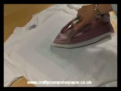 How to use TAP or Transfer Artist Paper; video demonstrates decorating a t-shirt