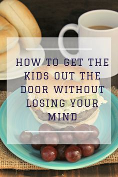 Are your mornings crazy? Not with these tips to get the kids out the door without losing your mind!  #ad #BagelMyWay